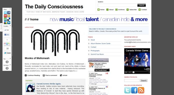 Tip of the day - The Daily Consciousness music blog