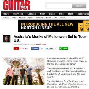 Australia s Monks of Mellonwah Set to Tour U.S. Guitar World