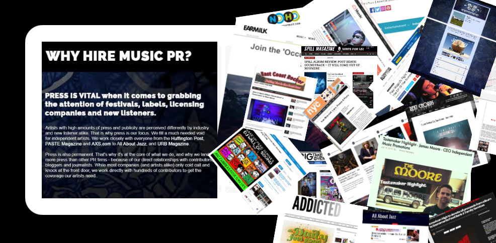 Why Hire Music PR? Info Graphic from Independent Music Promotions
