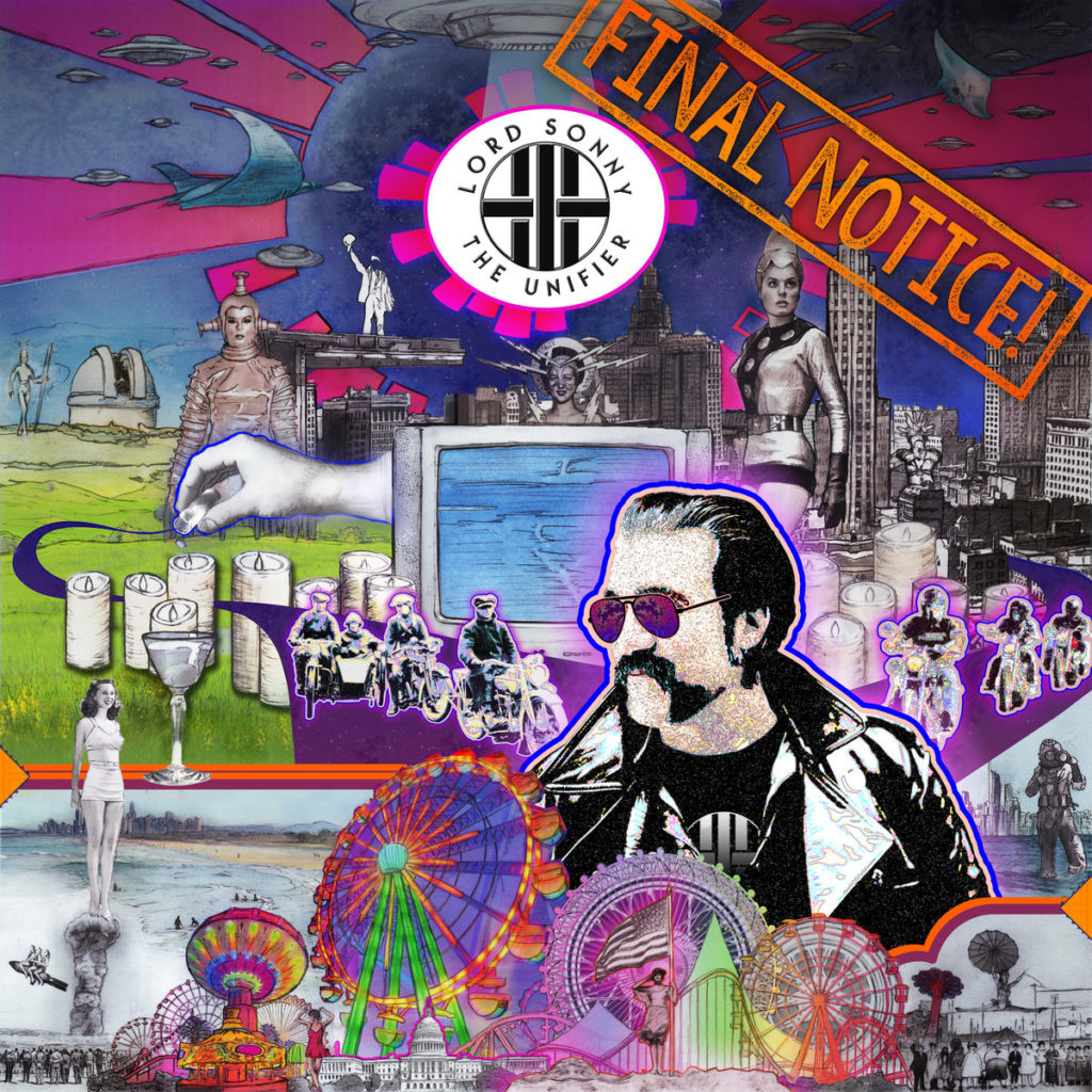 """Lord Sonny the Unifier's """"FINAL NOTICE!"""" album is featured on I.M.P's Best Rock playlist. Cover art by Soulfire Design."""