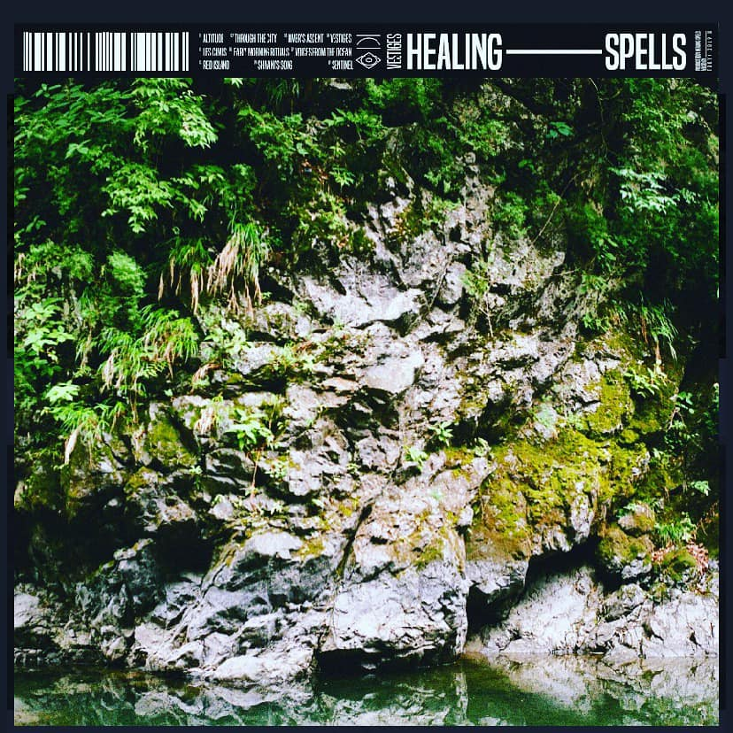 'Vestiges' cover art. New electronic music album by Healing Spells.