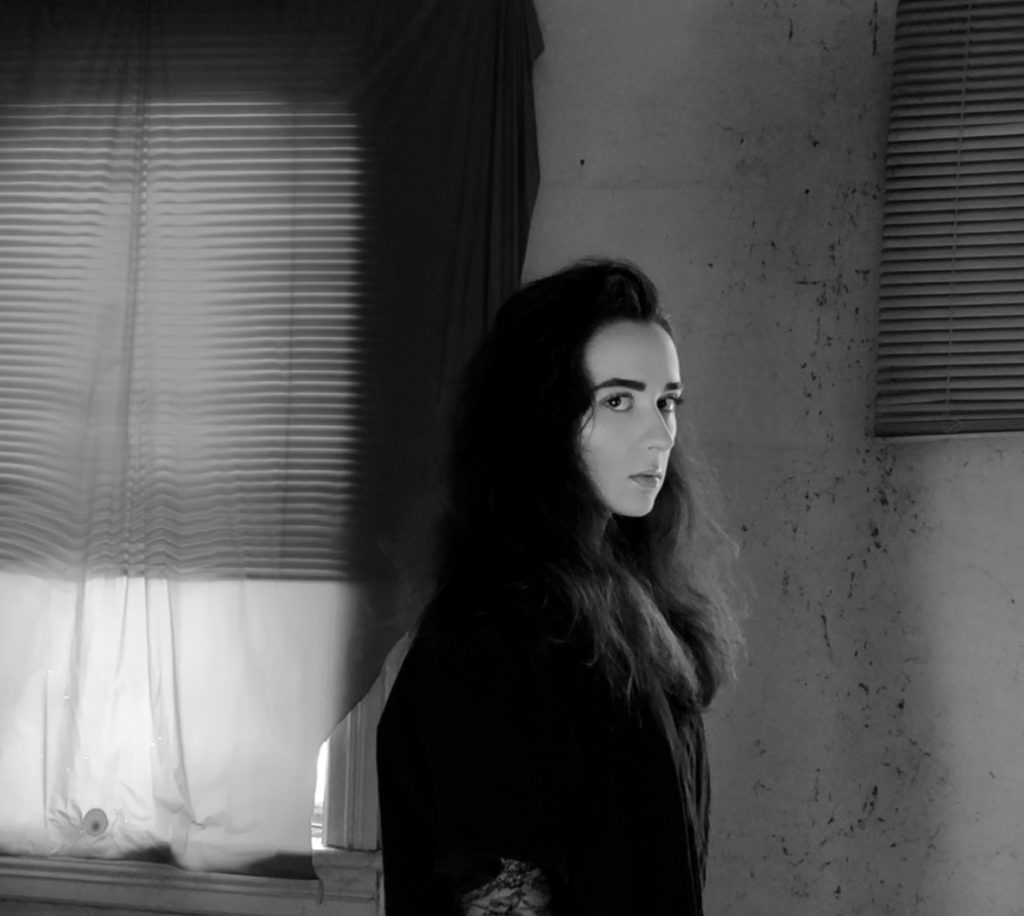 Toronto alternative rock artist Delyn Grey still from BATTLE music video shoot